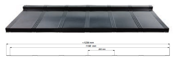 Plieninė stogo danga Tysenia
