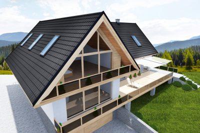 Plieninė stogo danga čerpų imitacija