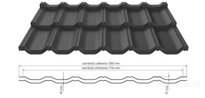 German plieninė stogo danga